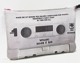 b7f5460ef8ee Wham Make It Big 80s Cassette Tape Clutch Purse Retro 80s Music George  Michael 80s Pop Unique Accessory   Purse for Women