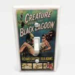 Creature From the Black Lagoon Light Switchplate, Horror Movie Memorabilia, Light Switch Cover, 50s Movie, Housewarming Gift for Horror Fan