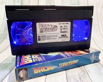 Back to the Future VHS Tape LED Lamp, Marty McFly, Table Lamp, 80s Movie, Vhs Lamp, Vhs Decor, 80s Decor, Birthday Gift for Her, Holiday Gif
