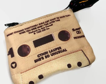 Cyndi Lauper She's So Unusual Mini Cassette Tape Clutch Change Purse Wallet 80s Wallet 80s Purse Coin Purse Birthday Gift for Music Lover