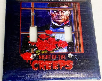 Night of the Creeps Double Light Switchplate, Horror Movie Memorabilia, Light Switch Cover, Housewarming Gift for Horror Fan, Holiday Gift