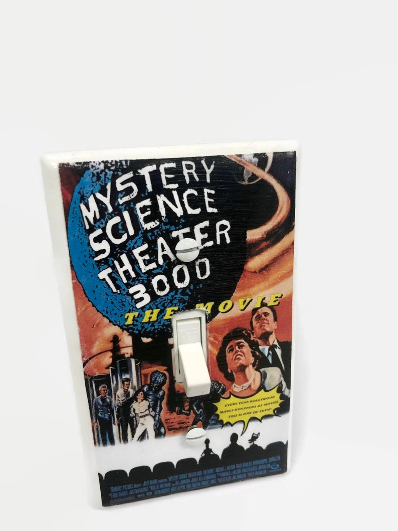 Mystery Science Theater 3000 MST3K Light Switchplate Horror image 0