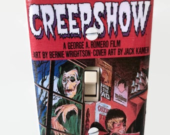 Creepshow Comic Book Cover Light Switchplate, Stephen King, Horror Movie, Light Switch Cover, 80s Movie, Housewarming Gift, Horror Fan