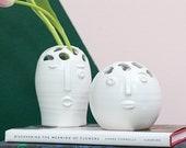 Picasso Budvase, Face Vase, Ceramic Vase, Modern Home Decor, White Pot, Flower Holder, Home Decor, Housewarming Gift, Bridal Shower Gift