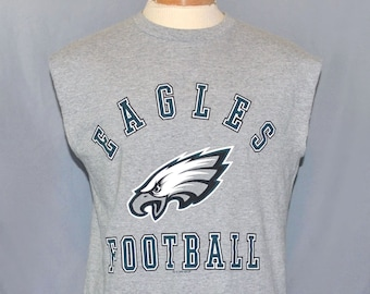 Vintage 90s Philadelphia Eagles Cutoff Tank Top Tee Men s Size Large  Graphic Print Sleeveless T-Shirt NFL 1bb1209df