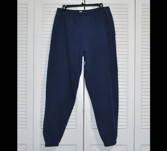 Vintage Nike Sweatpants Men's Size XXL Blue Elasti
