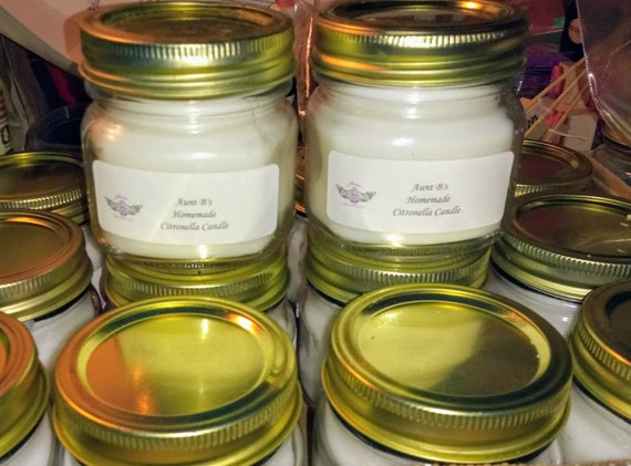 Homemade Citronella Candles Etsy