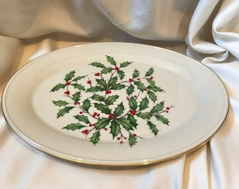 Large Lenox Christmas platter or serving tray