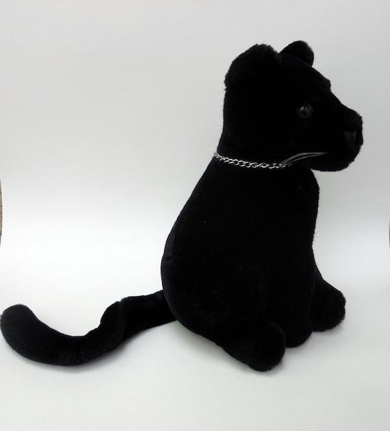 Black Panther Stuffed Animal Black Panther Plush Toy Stuffed Etsy