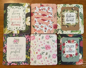 Set of 36 Mini Journal Botanical Journal Wedding favors Gift idea Diary Paper Pad Journal Set Quote Journal Notebook Party favors