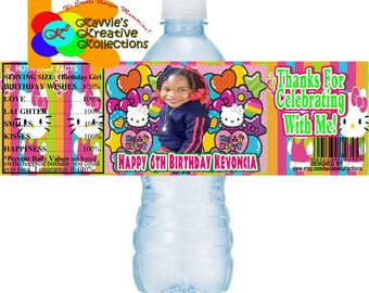 78d061441 Personalized/Customized Hello Kitty Water Bottle Labels, Hello Kitty  Labels, Hello Kitty, Water Stickers, Printable Labels, DIY Water Labels