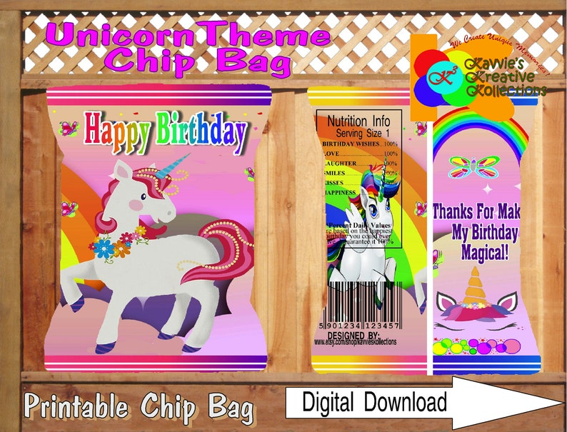 picture relating to Printable Chip Bags titled Printable UNICORN Chip Luggage, Unicorn Chip Bag, Do-it-yourself Printable Chip Luggage, Birthday Immediate Down load Unicorn Desire Bag, Unicorn Celebration, Unicorn
