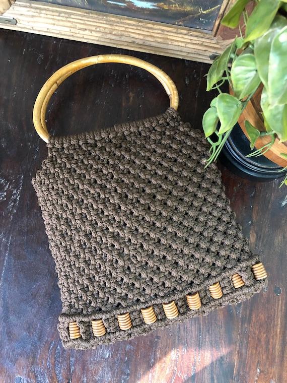 Vintage 1970s Macrame Bag