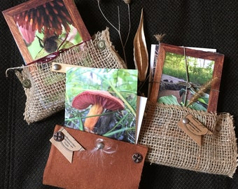 Nature Greeting Cards, photography, notes, handmade