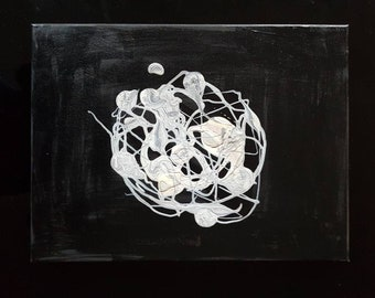 Abstract White and Black Painting