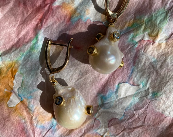Amalia Baroque Pearl Earrings