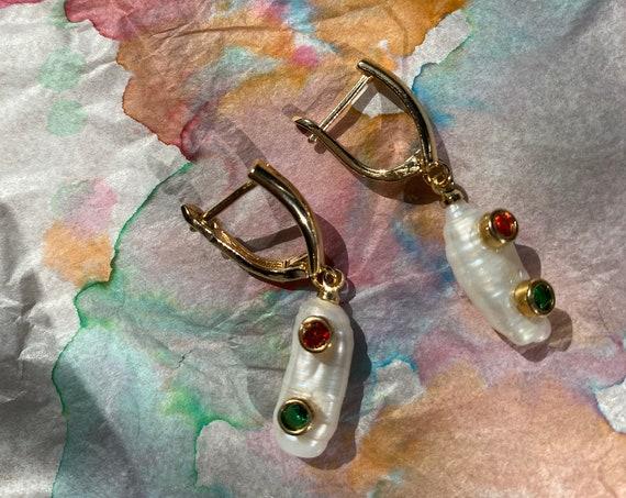 Mutya Stick Pearl Earring