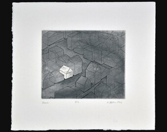 Home, Original Intaglio Print