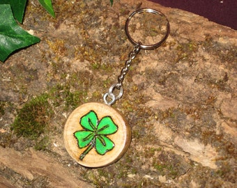 Key-lucky clover personalized with letter choice