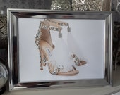 Hand beaded Jimmy Choo Shoe inspired Picture A4