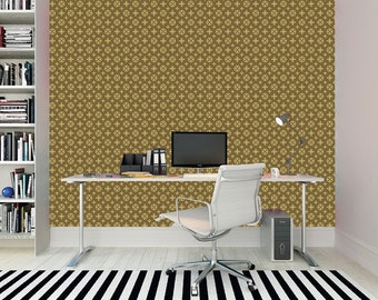 dbf9e8009 Luxury geometric vintage fashion style self adhesive removable wallpaper