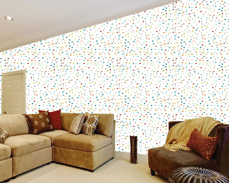 Wall decor Wall Art Tapestries Wall hangings Millions colorful dots self adhesive removable wallpaper| Home decor