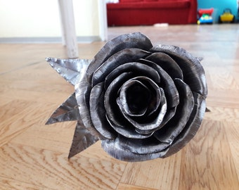 Hand made metal rose.