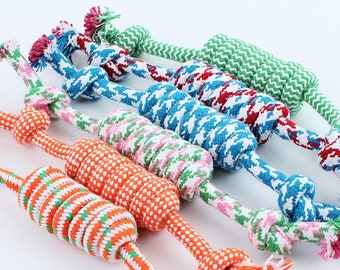 Pet Toys for dog funny Chew Knot Cotton Bone Rope Puppy Dog toy Pets dogs pet supplies for small dogs for puppies 27cm (Random Color )