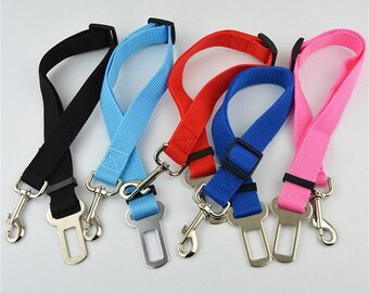 Adjustable Dog Car Safety Seat Belt Nylon Pets Puppy Seat Lead Leash Harness Vehicle Seatbelt 6 Color