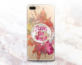 Travel iphone case etsy iphone 8 case travel iphone 5s cover travel the world map silicone iphone x places to go iphones 7 plus case iphone 6s case clear iphone 10 gumiabroncs Images