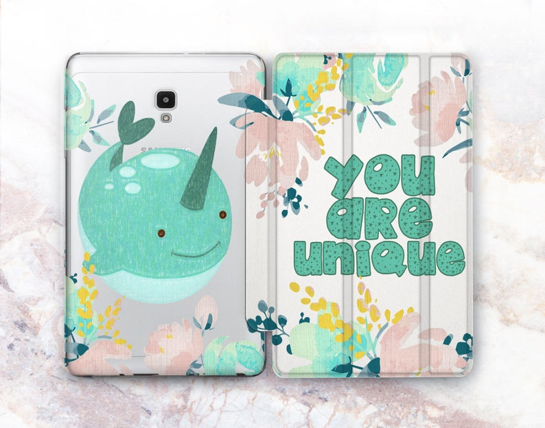 finest selection d256a d4517 Custom Tablet case Samsung 10.5 Stand Whale Unicorn 9.6 Tab cover Galaxy  Tab A S4 8 10 Tablet case inch Galaxy Tab E 9.7 Watercolor painting