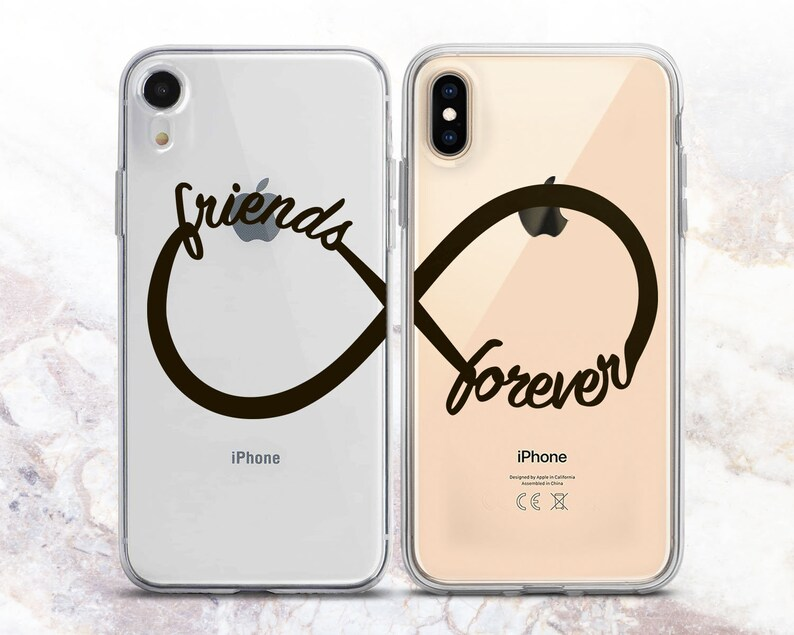 half off b75a8 d8aad Friends Forever Infinity sign Xr couple case iPhone Xs Max case iPhone 8  cover Matching iPhone Cute iPhone case iPhone x case tpu 7 plus 6 5