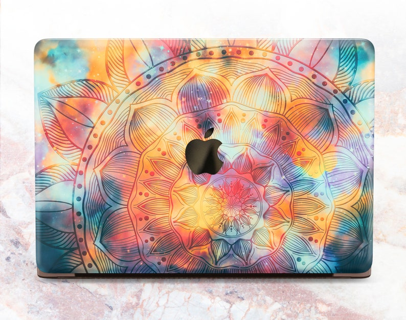 Mandala Macbook Air 11 12 13 Hard Case Cover Mac Pro Retina 15 Case Boho Style