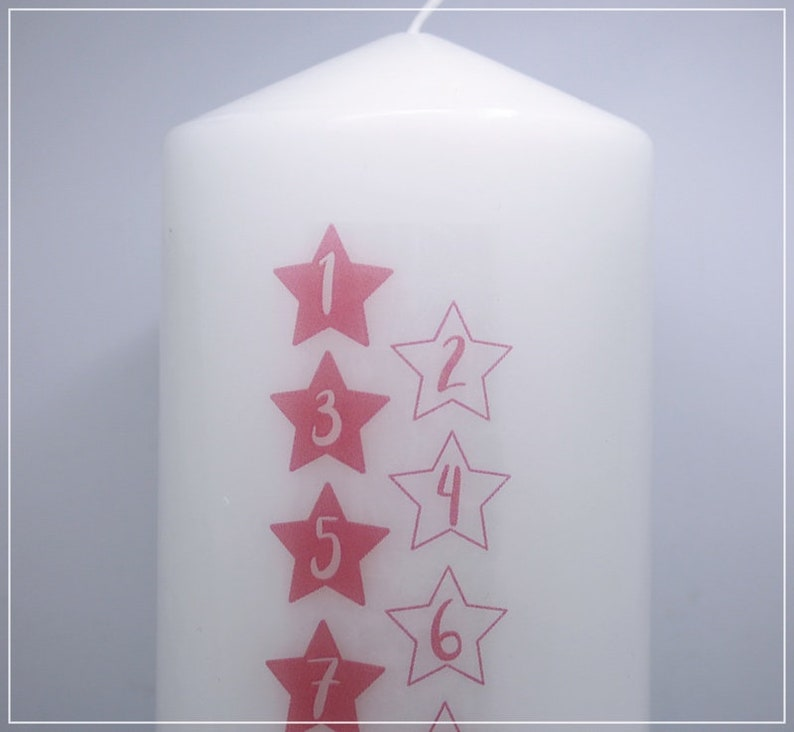 Birthday Candle Life Star Rosa