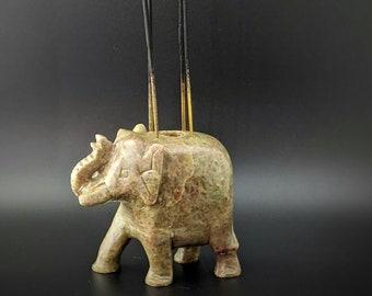Soapstone Elephant Incense Stick Burner, Incense Cone Burner, Incense Holder, Cone Holder, incense gift