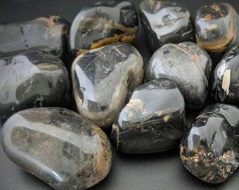 Black Jasper crystals - Tumbled black jasper - polished black jasper stones