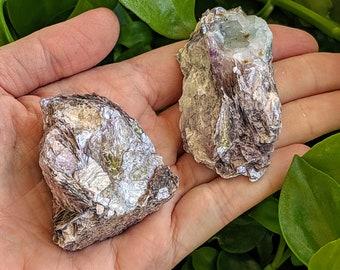 Lepidolite leaf crystal, raw lepidolite stones