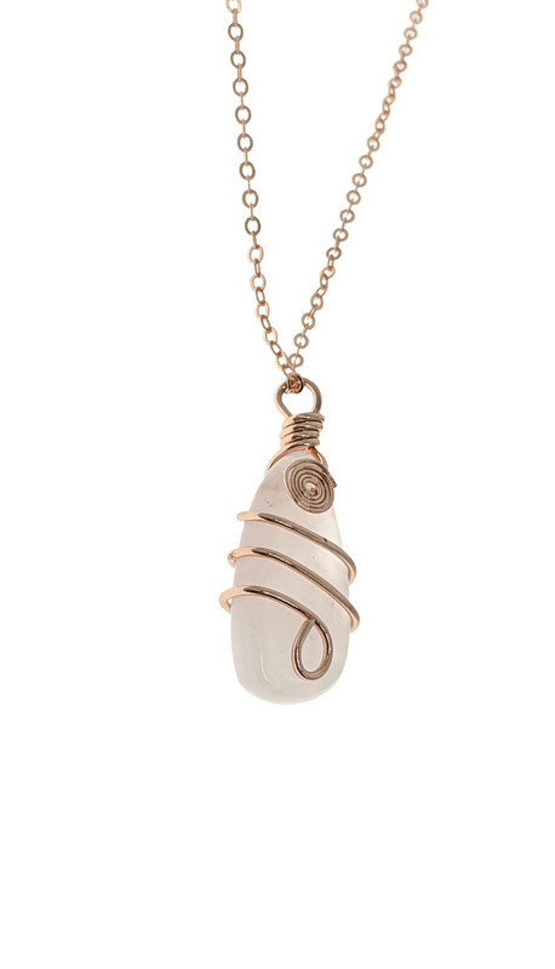 Chakra Jewelry Heart Chakra mothers day gift Rose Gold Wire Wrapped Rose Quartz Necklace Rose Quartz pendant