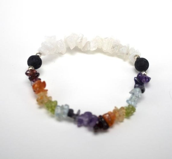 Fashion Stretch Unisex Natural Chipped Stone Crystal Bracelet Jewelry