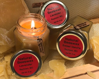 6oz Sweet Vanilla Beeswax Candle
