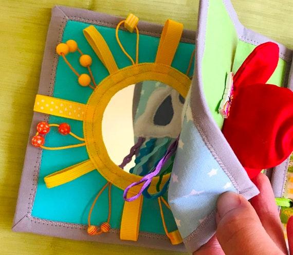 Mini Livre Sensoriel Activite Livre Enfant Livre Tissu Texture Douce Interactif Livre Mini Livre Premier Livre D Eveil Livre Tactile