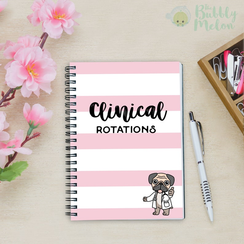 Nurse Clinical Rotations Spiral notebook ruled line paper A5 notebook small  notebook journal college medical school Cute Nurse Gift