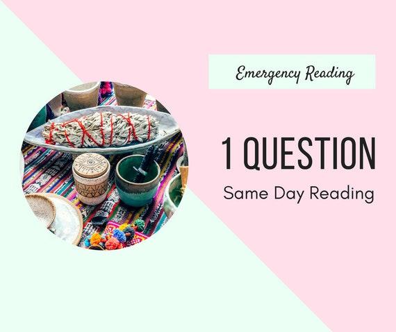 Une Question durgence lecture Tarot même jour lecture   Etsy 723d40ee729a