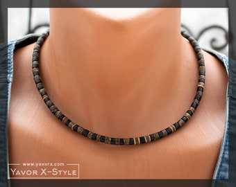Mens Beaded Necklace Etsy