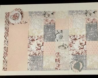Beautiful 12 x 12 Wedding Double Page Layout