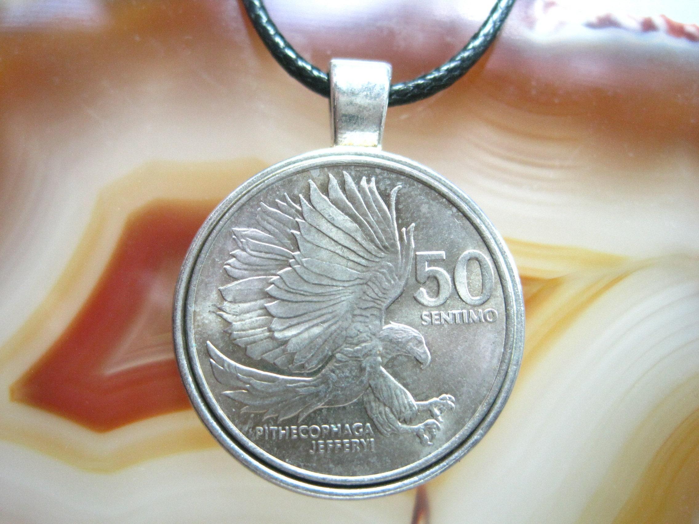 Phillipino Sentimo Coin Pendant Necklace
