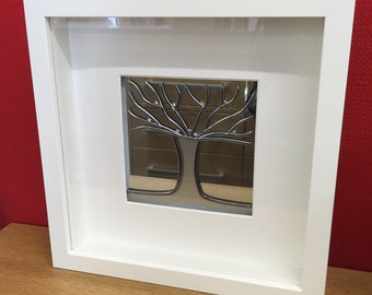 Tree of life box frame made with lead and Swarovski crystals