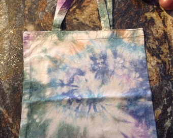 Tie dye cotton shopping bag