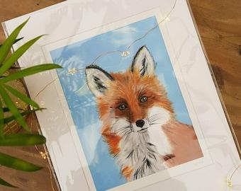 A4 Limited Edition Fox Print