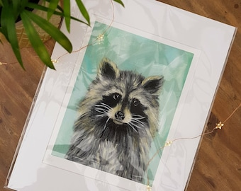 A4 Limited Edition Raccoon Art Print